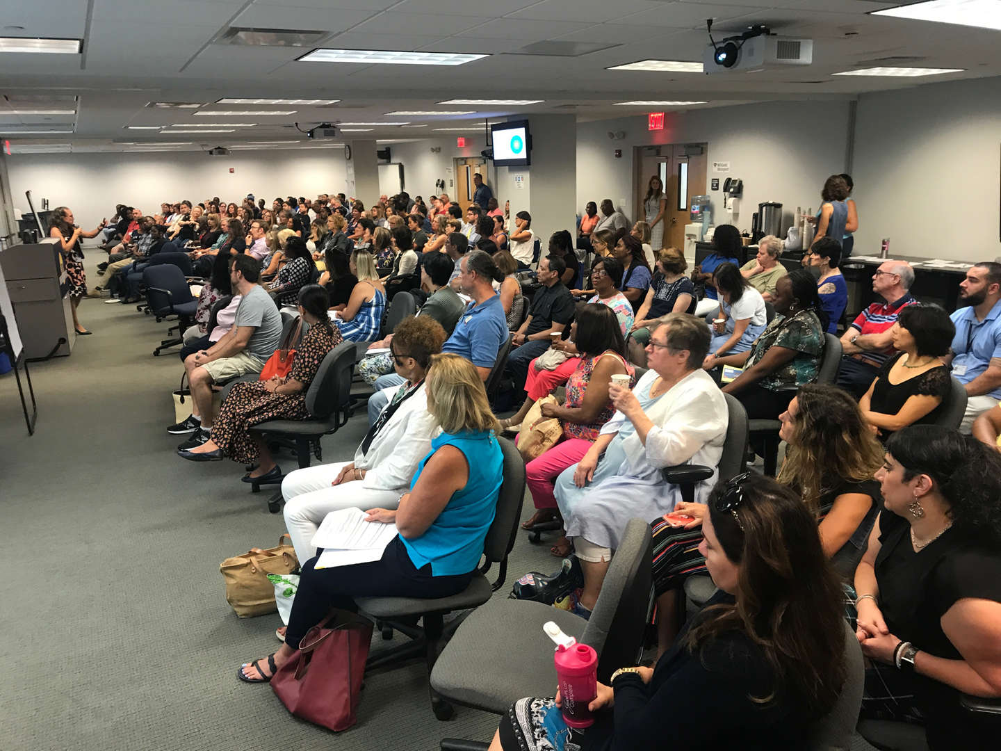 teachers packed the room at opening day event
