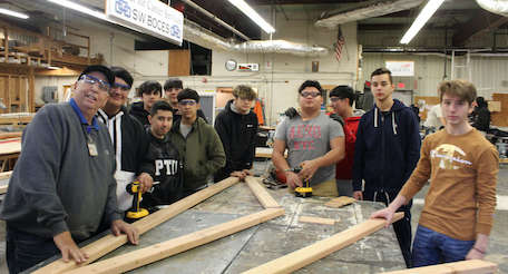 Construction students at our CTE campus