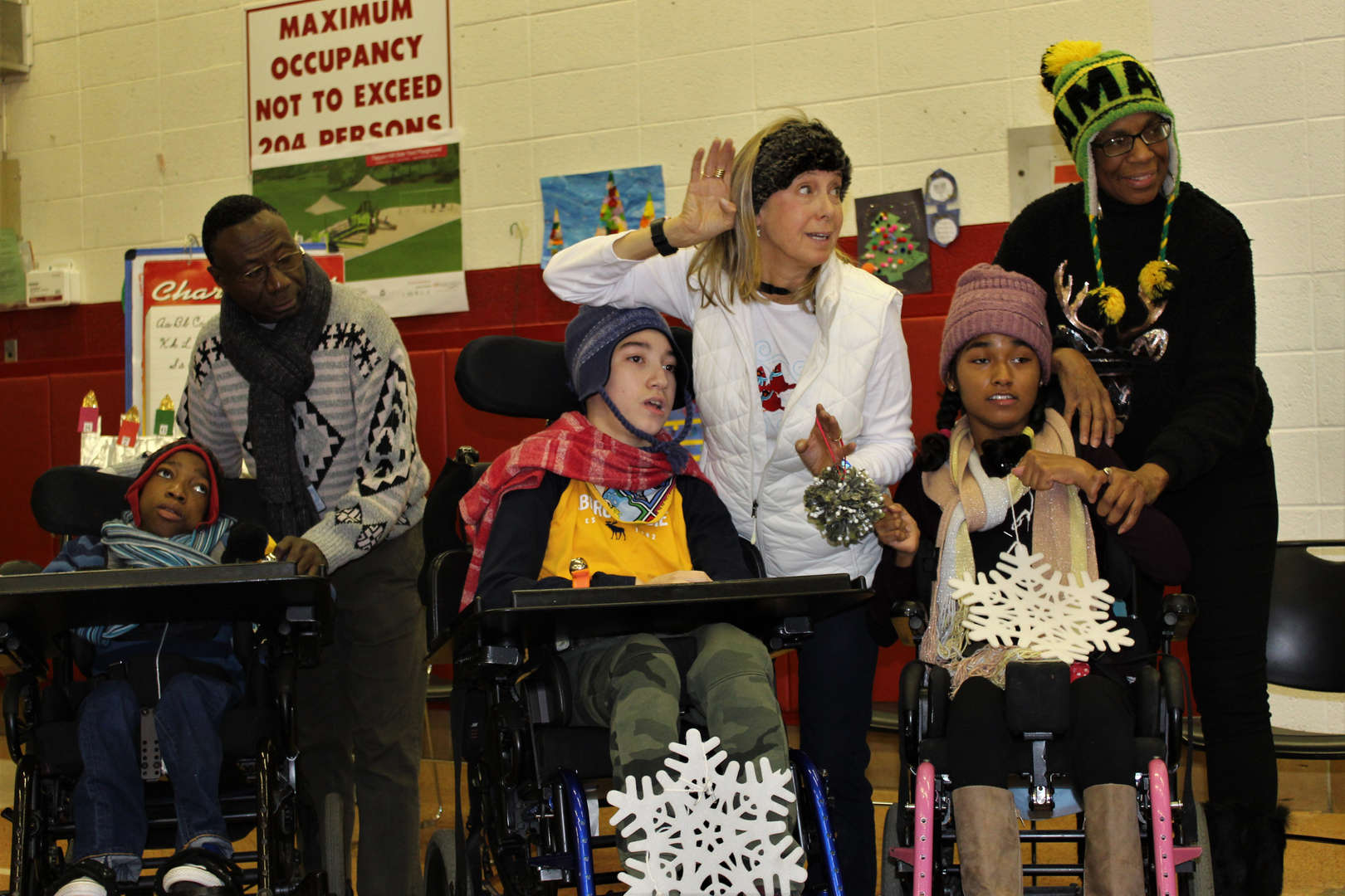 """Students and staff sang """"A Holly Jolly Christmas"""" during the holiday concert at Tappan Hill School."""