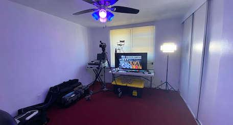TV production teacher's home studio