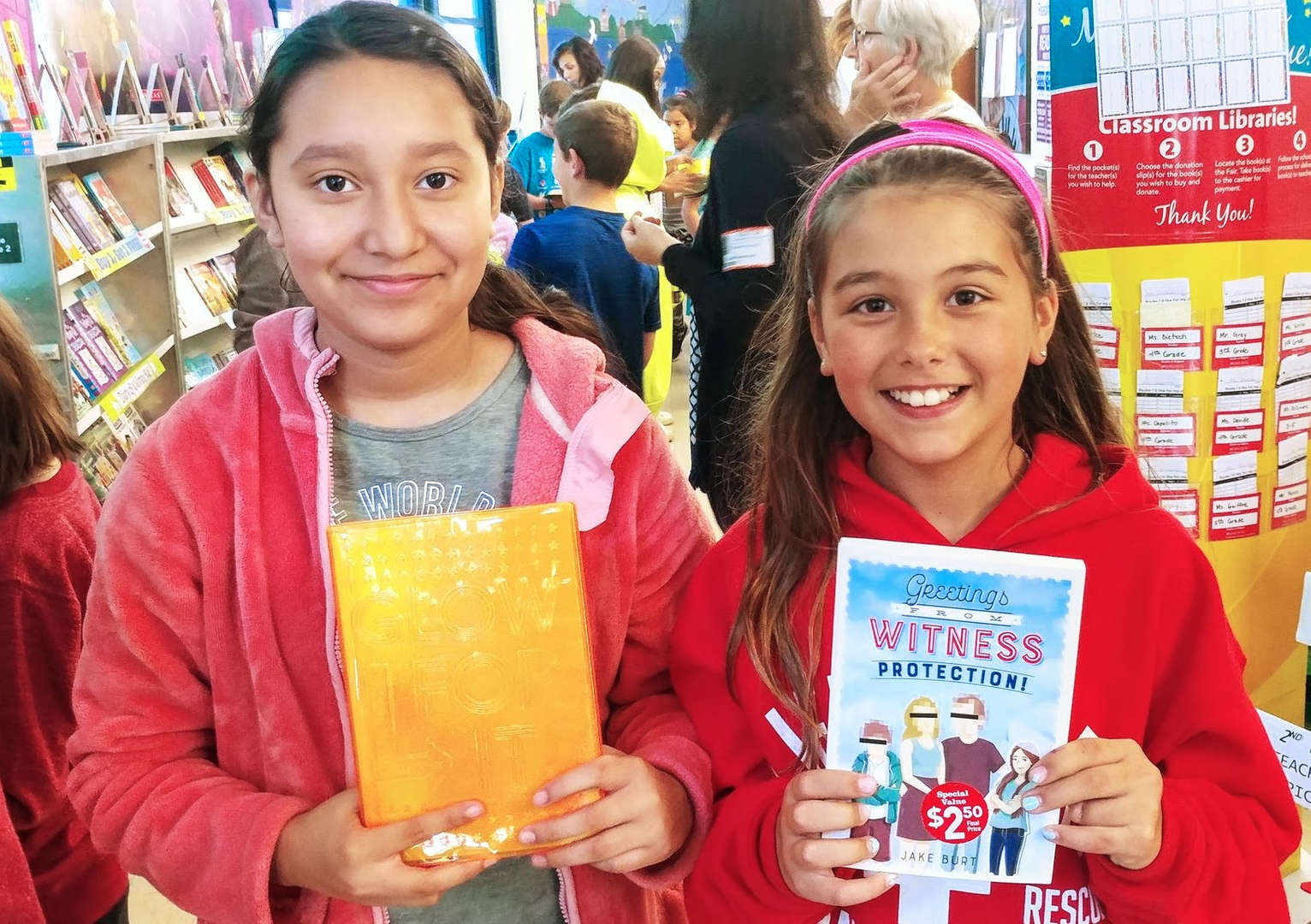 Tuckahoe students at book fair