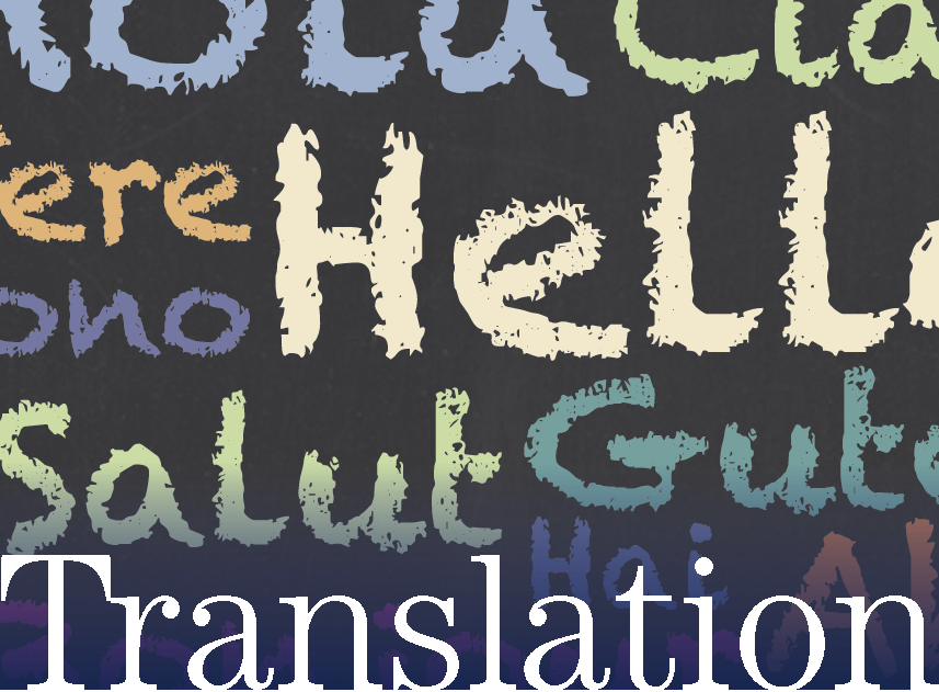 translation services graphic of hello in multiple languages