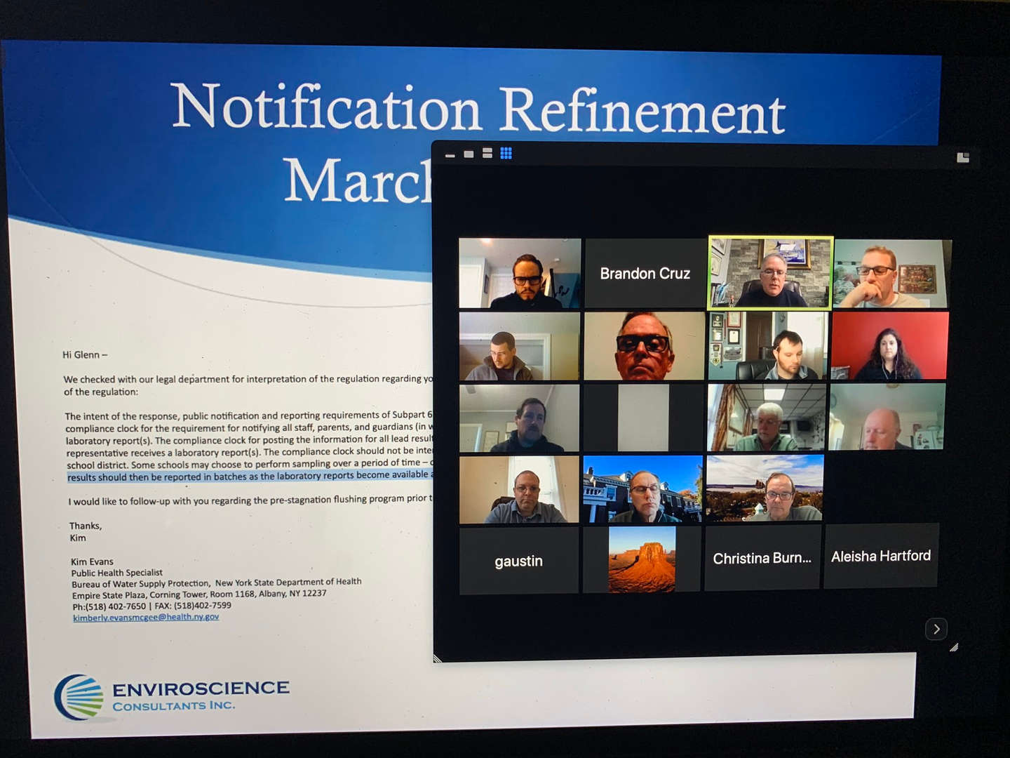 Educators review a presentation together while on a Zoom call
