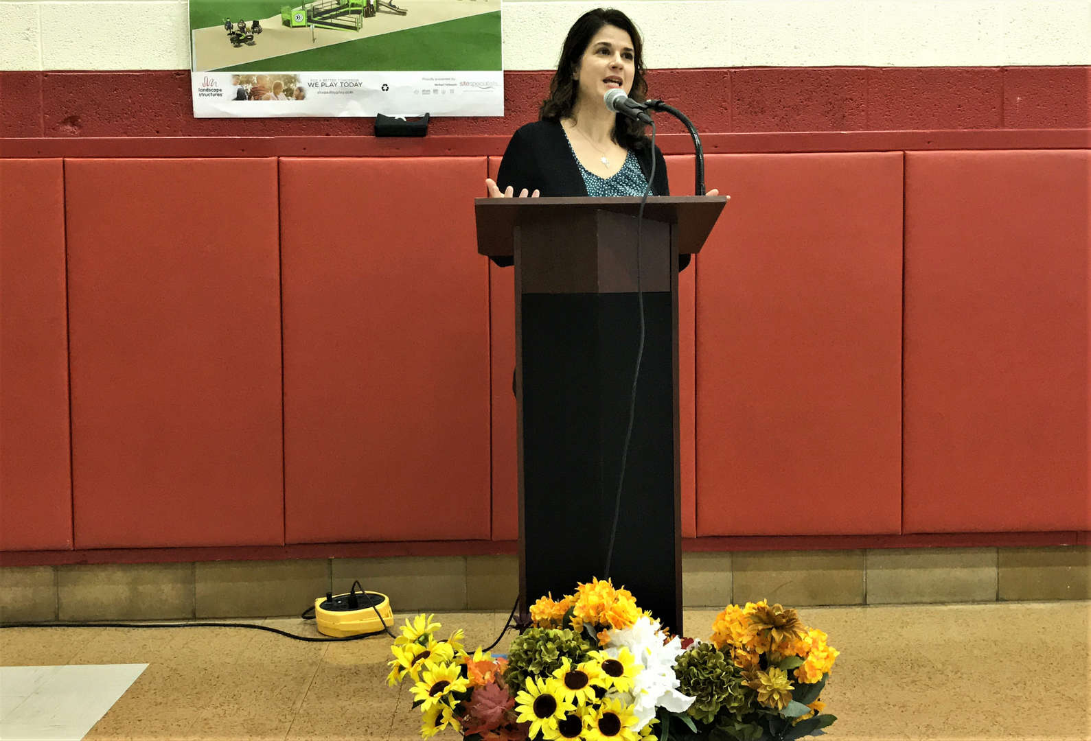 SEPTA President Anne Marie Cellante addressed parents and guardians.