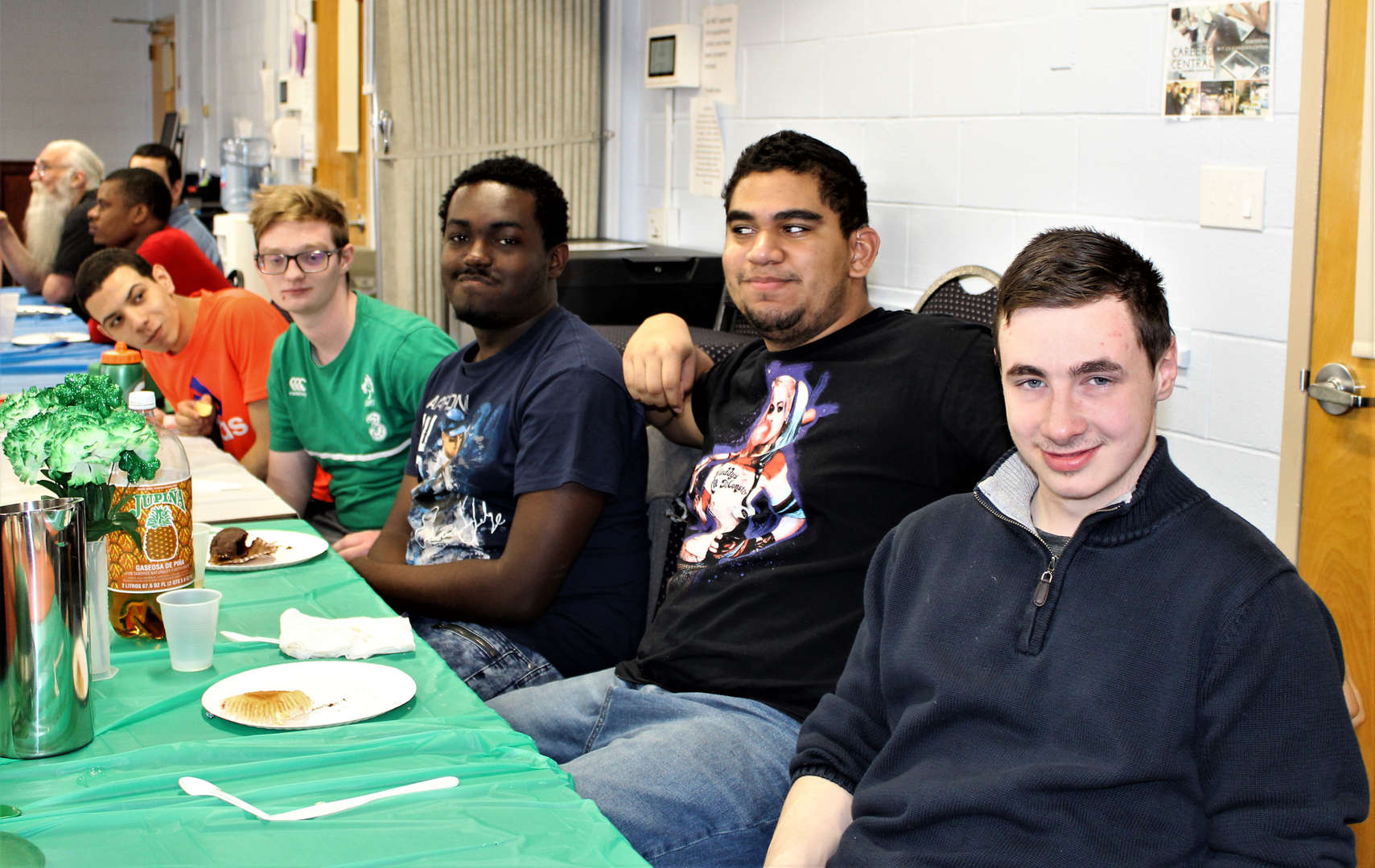 Students pose for a photo during the luncheon.