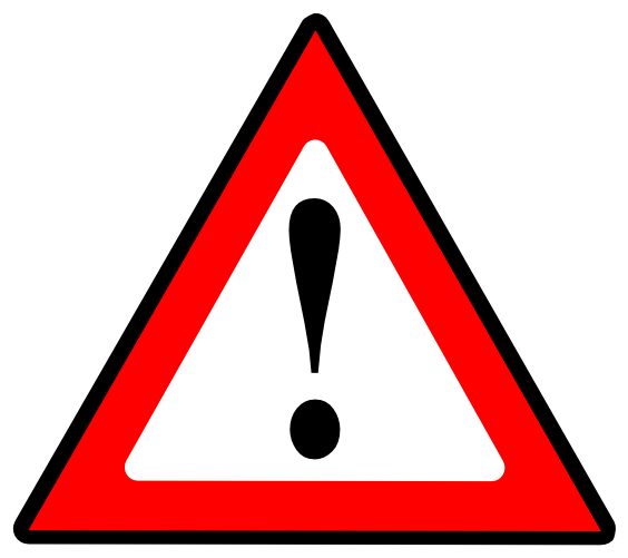 Triangle with exclamation mark