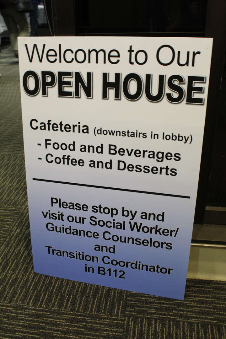 Sign for the Open house