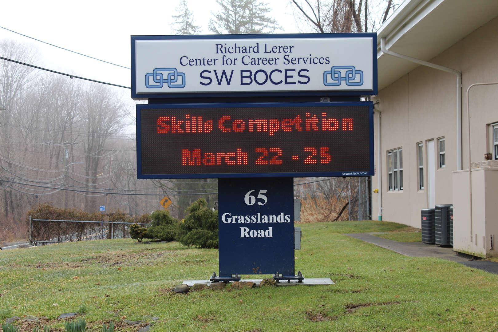 Digital signa ccouncing SkillsuSA is taking place March 22-25