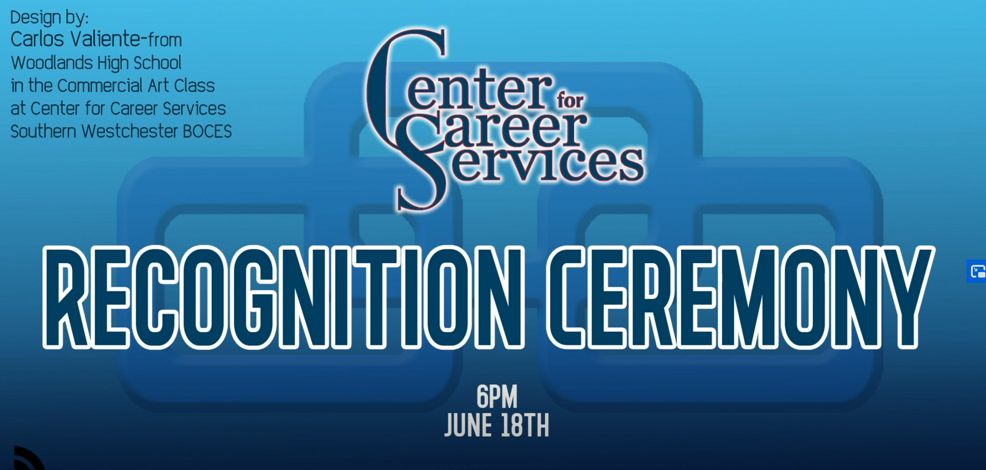 Screen shot of Recognition Ceremony logo