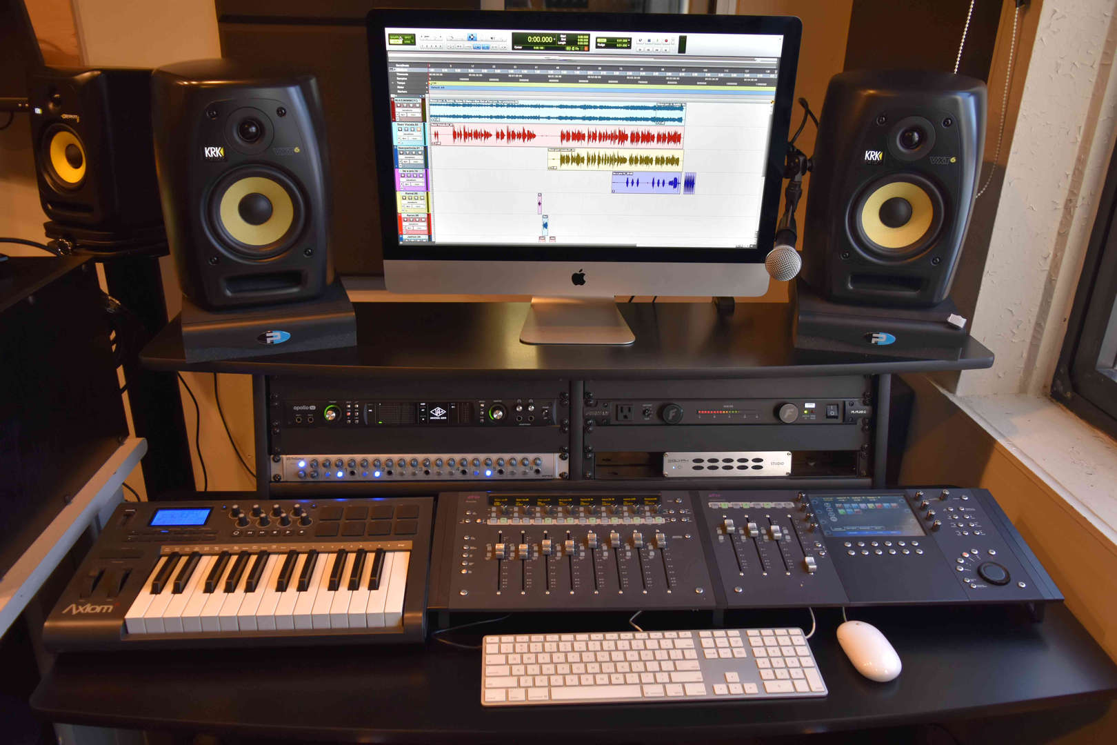 some of the audio hardware and software students use in the studio