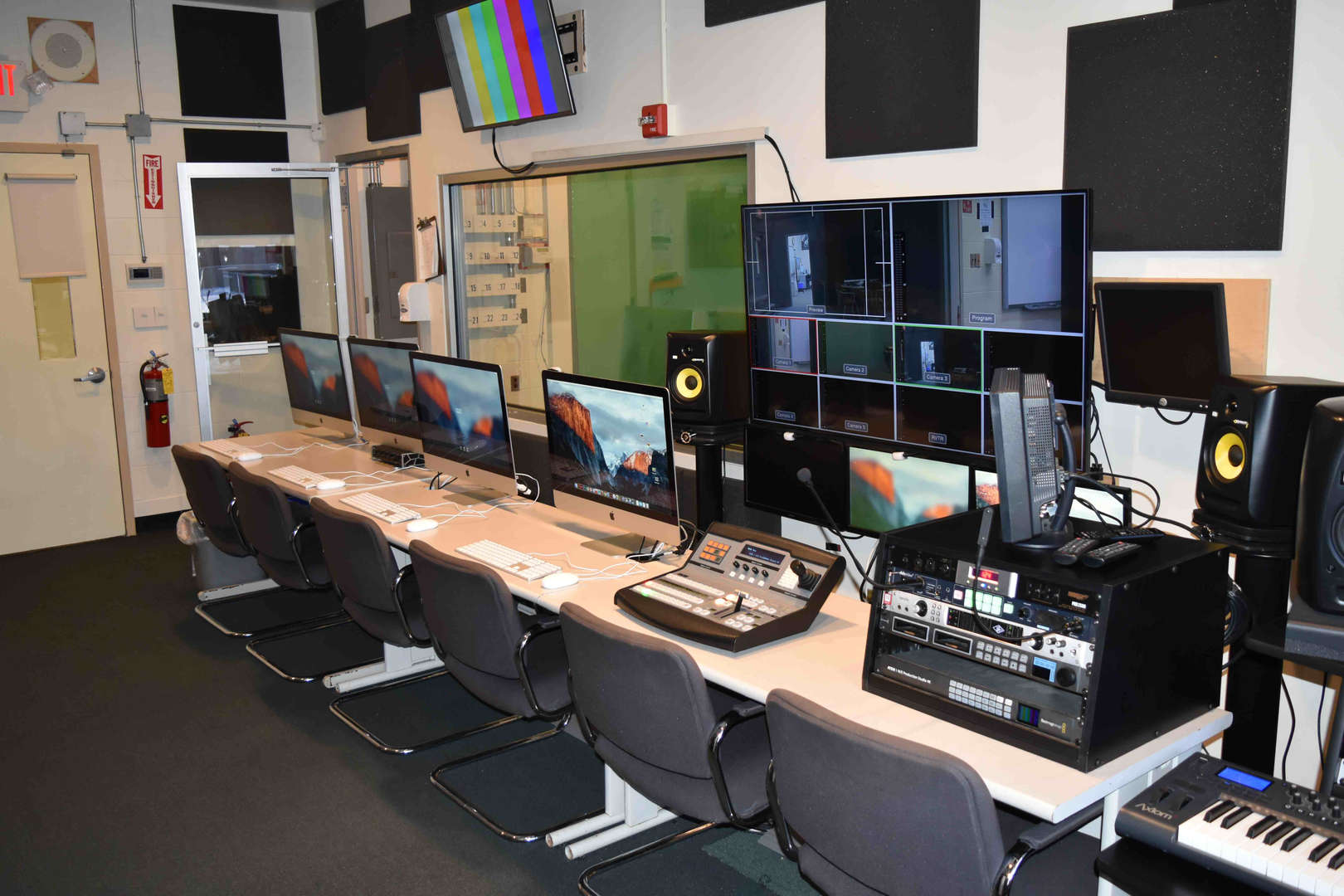 the audio and video studio at the SWBOCES Careers Campus