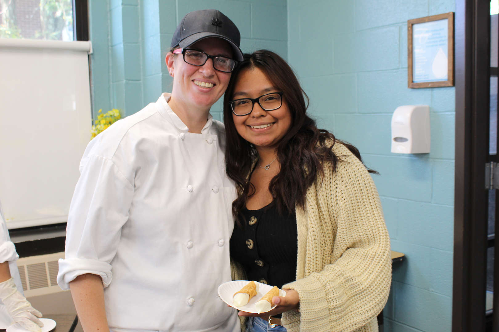 Chef with student