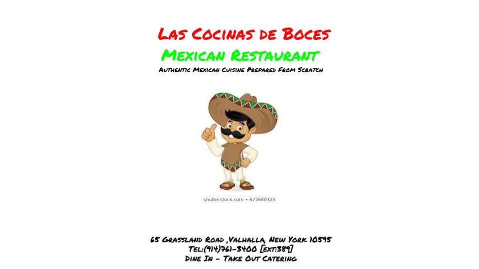 Front of a menu for Mexican restaurant