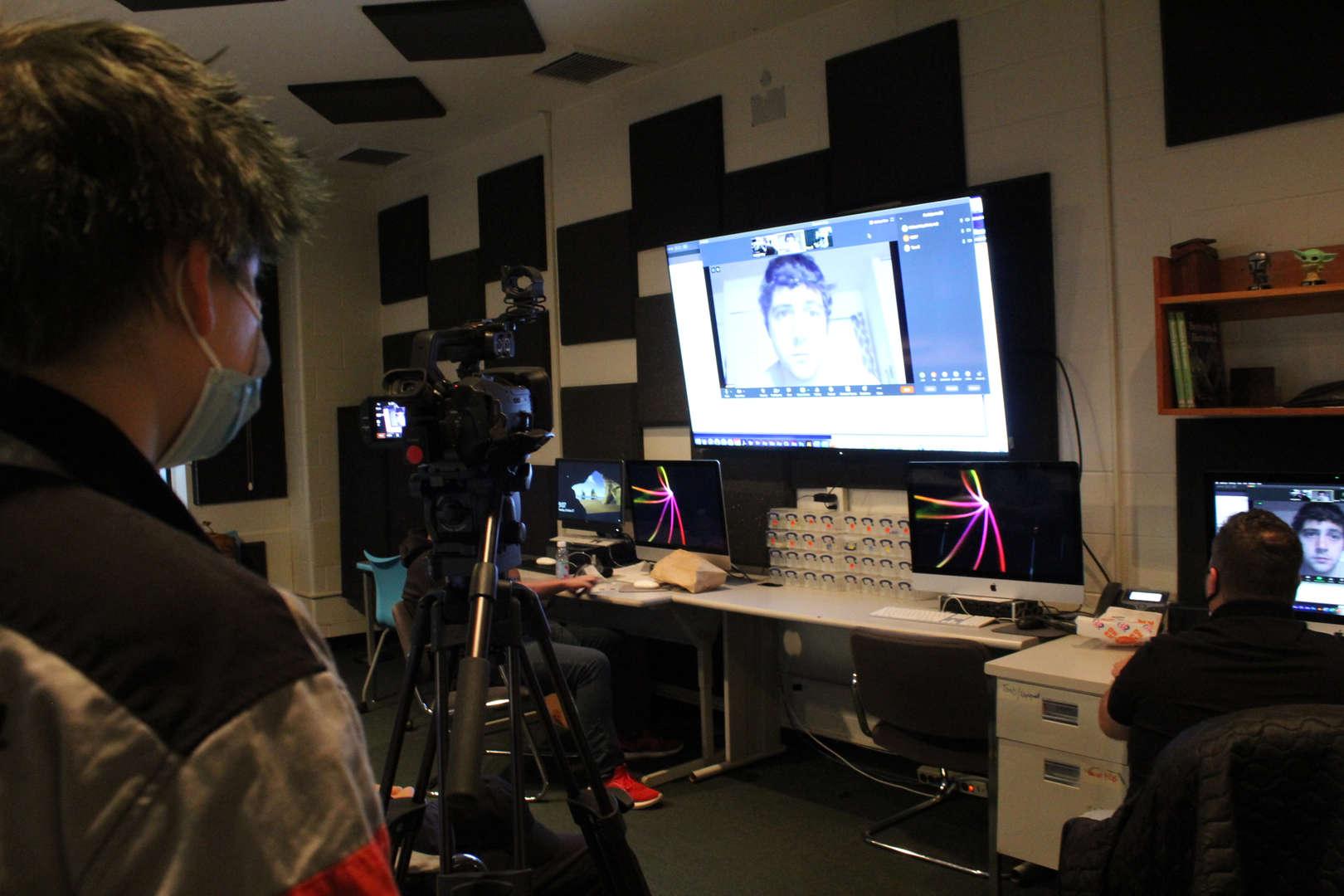 Class being filmed