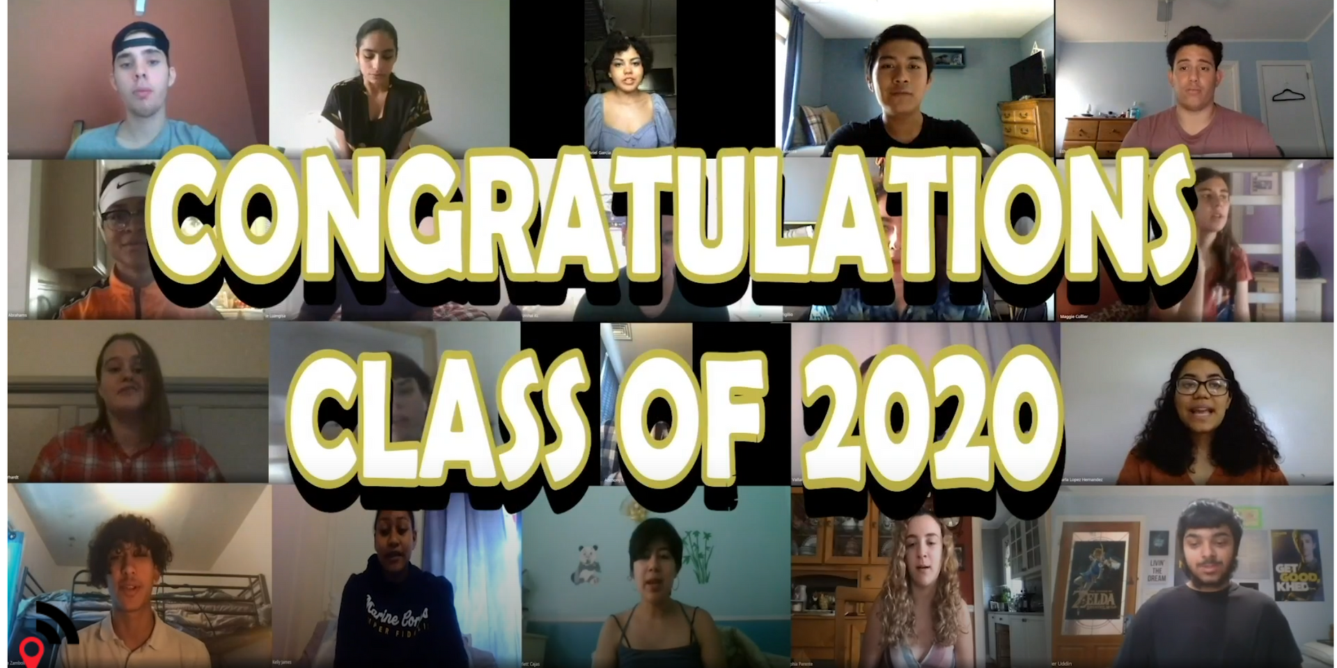 Video montage of students