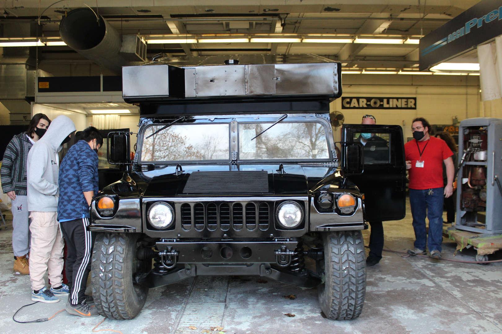 Front of Humvee