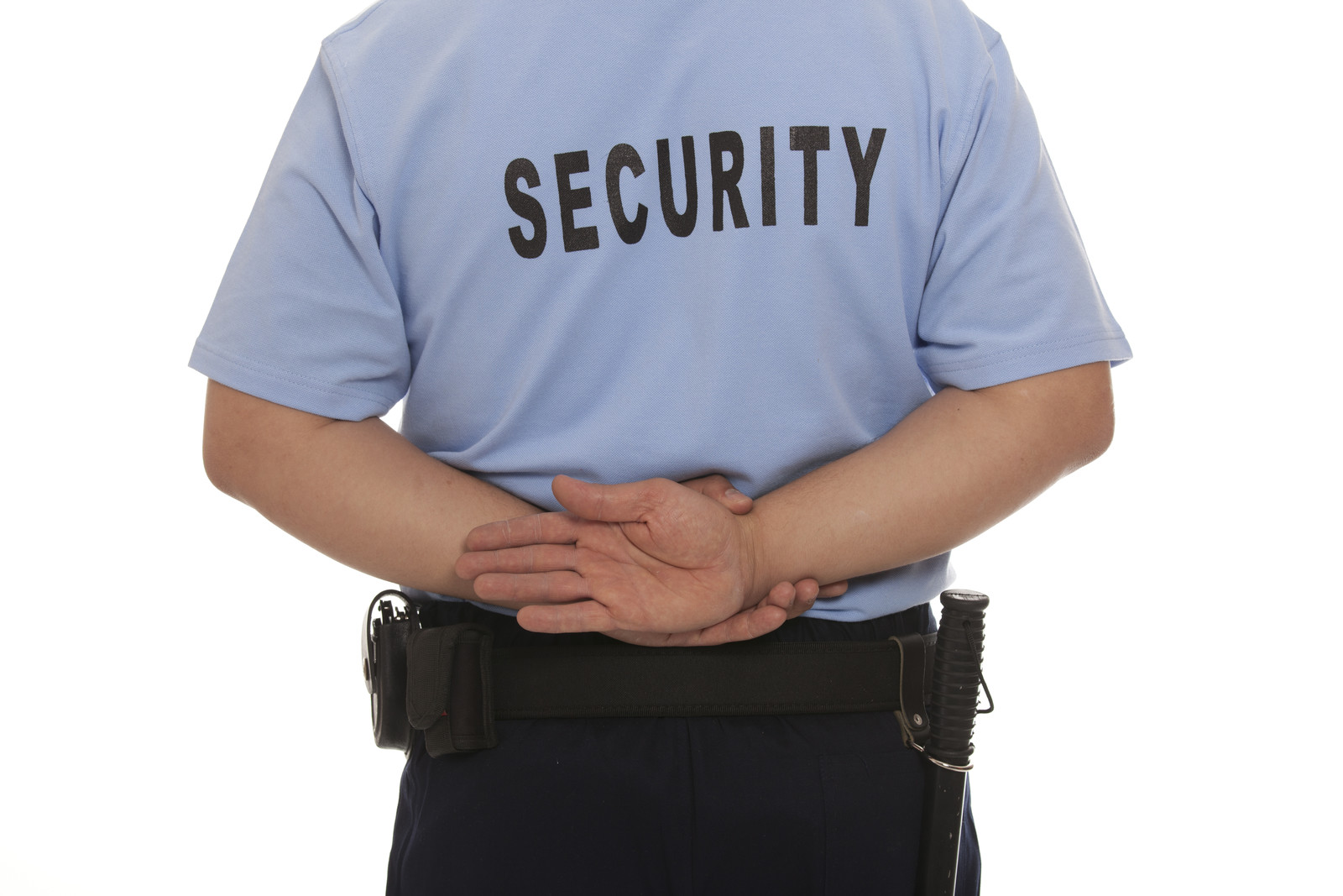 security guard from back
