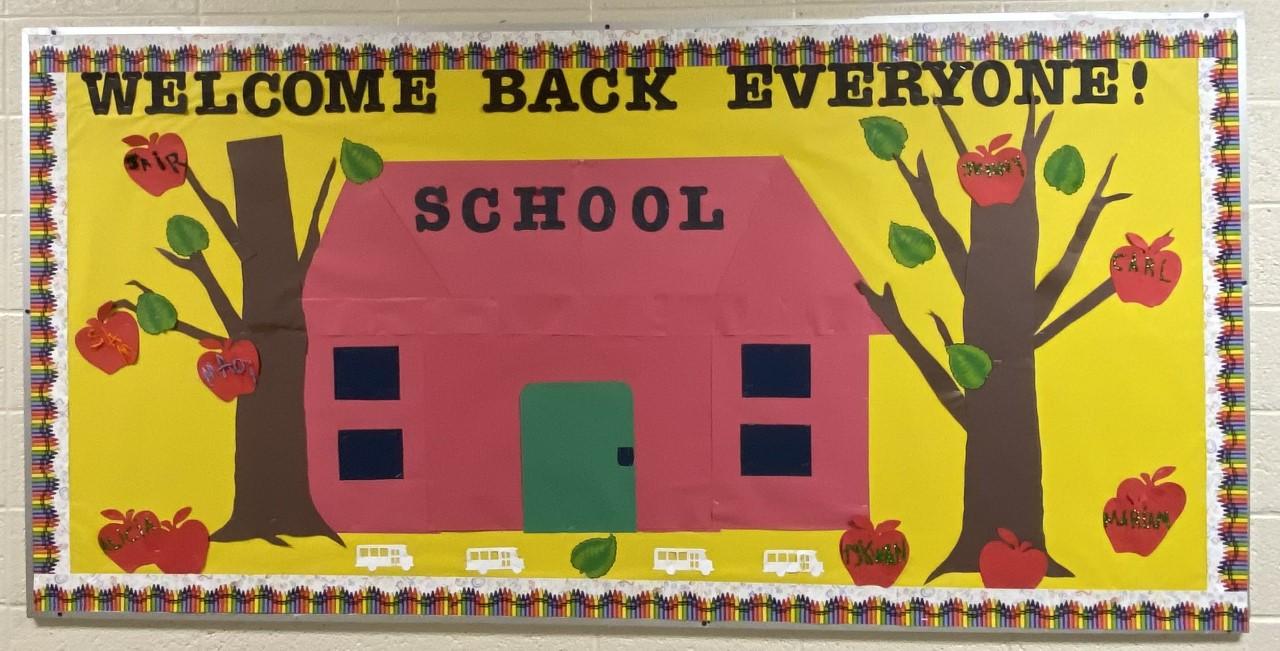 Welcome back bulletin board.