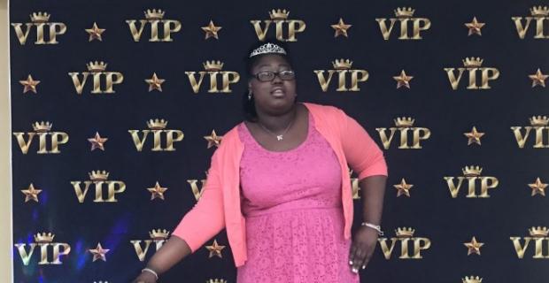 Student  graduate posing as a VIP