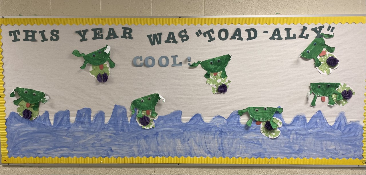 This Year was Toad-ly Awesome Bulletin Board.