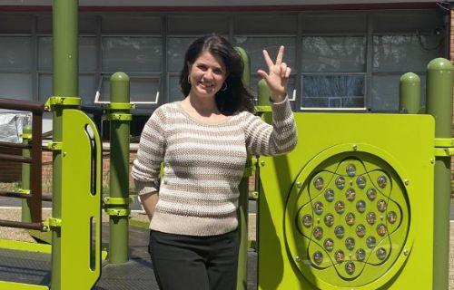 Staff at playground.
