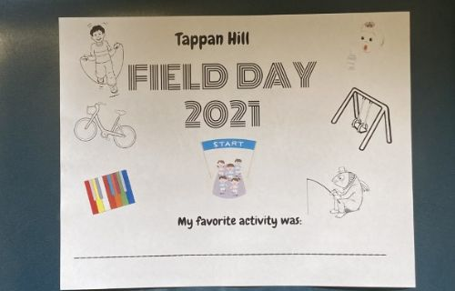 Field day sign.