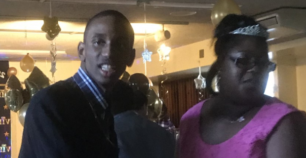 Students dancing at prom