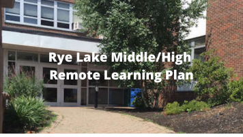 Rye Lake Middle High Remote Learning