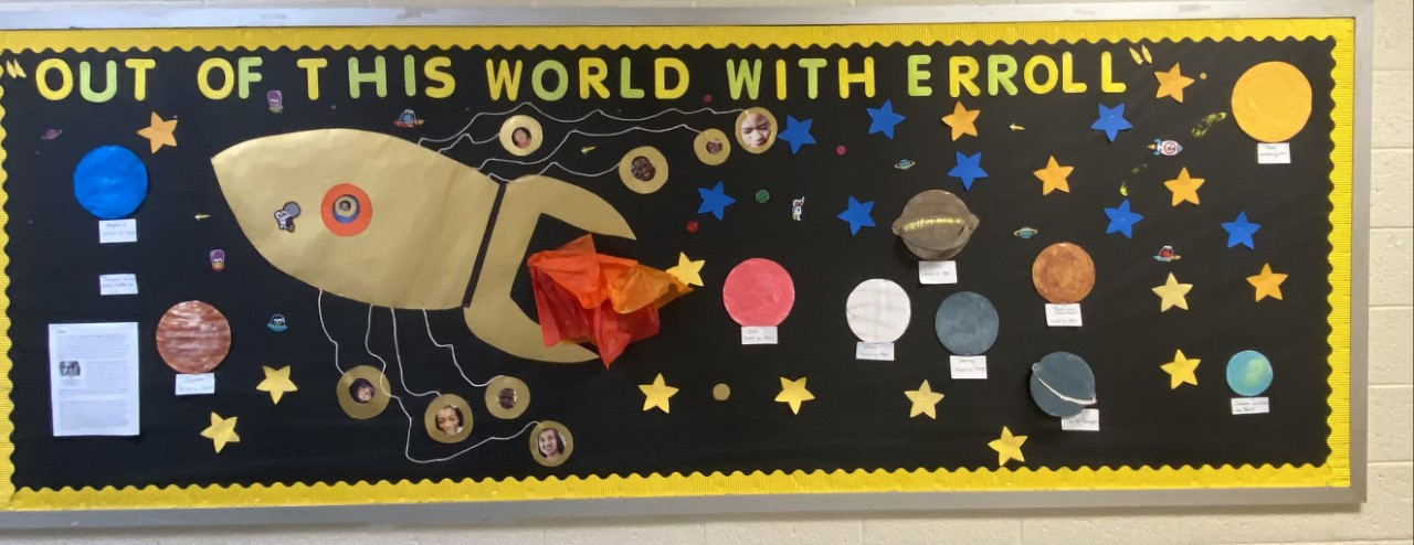 Out of this world bulletin board.