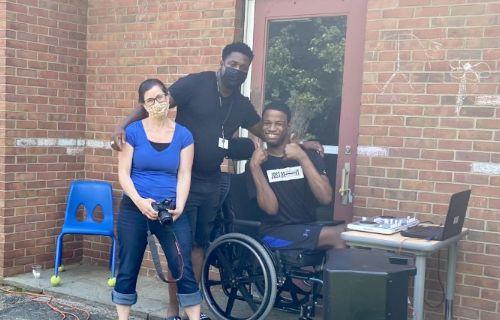 DJ and staff.