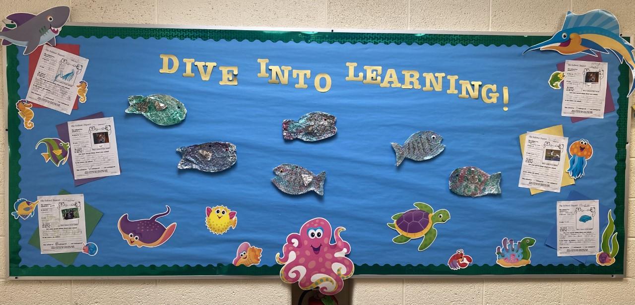 Dive into Summer Bulletin Board.