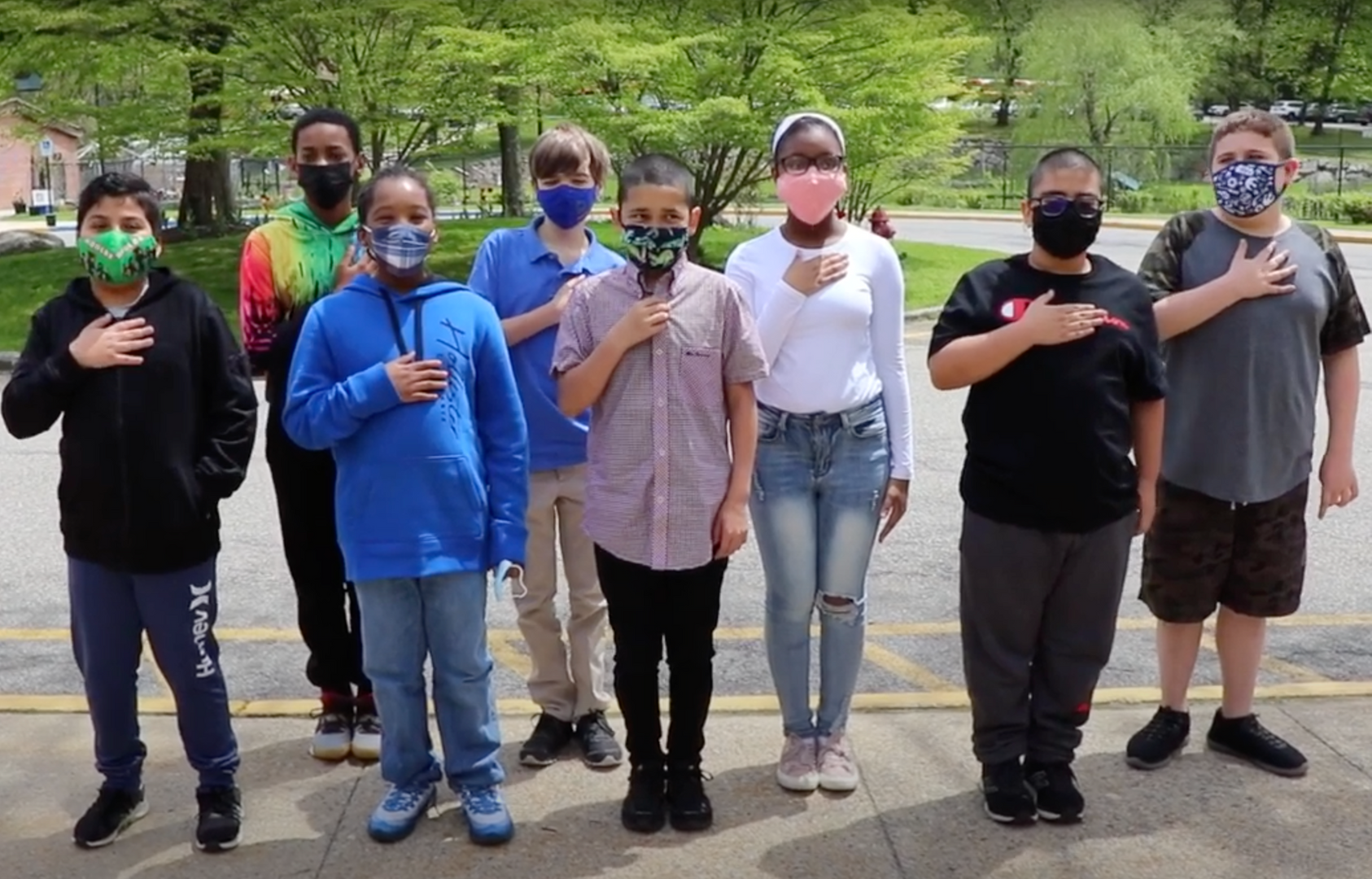Pocantico Hills students recite the Pledge