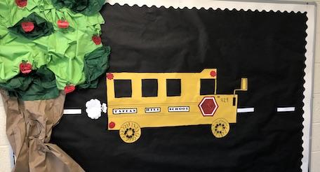 Bulletin board school bus