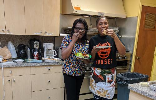 The kitchen chefs