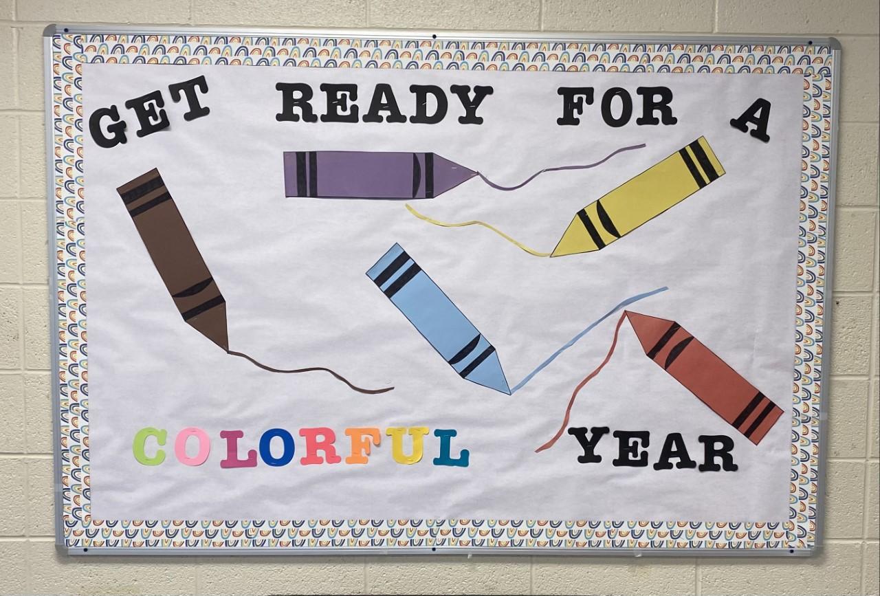 Get ready for school bulletin board.