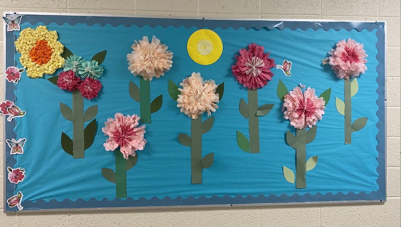 Flower Bulletin Board.