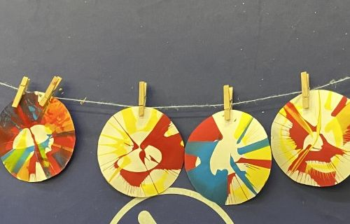 Spin art projects.