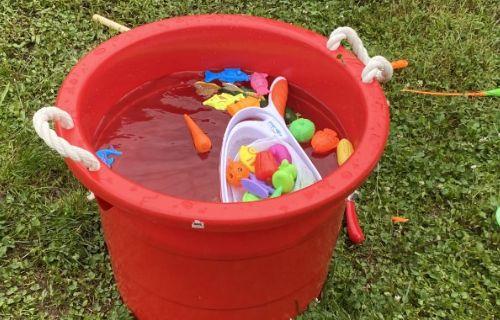 The fishing tub.