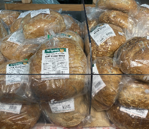 Bread shelf in Stew Leonard's store