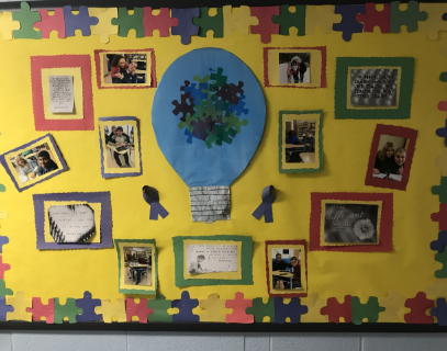 A decorated Bulletin Board