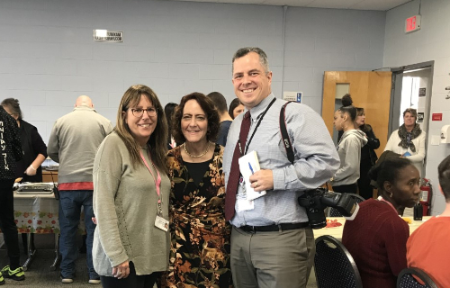 Three staff members at the Thankful Feast