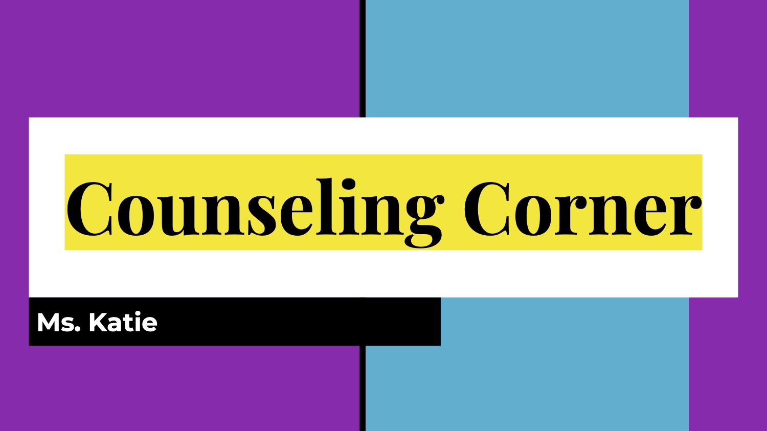Counseling Corner cover page