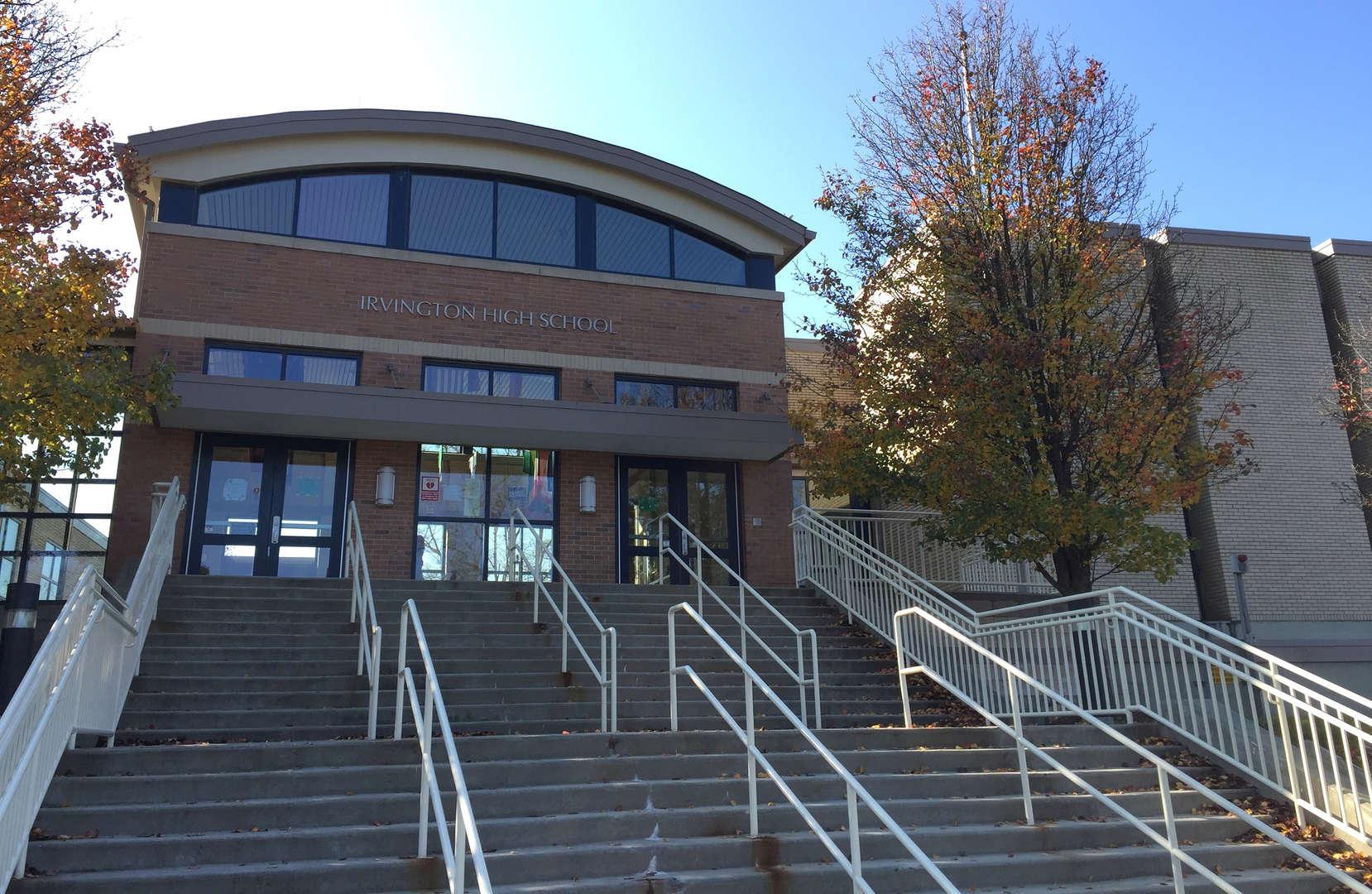 front of Irvington High School