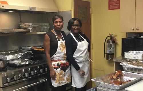 Staff in kitchen
