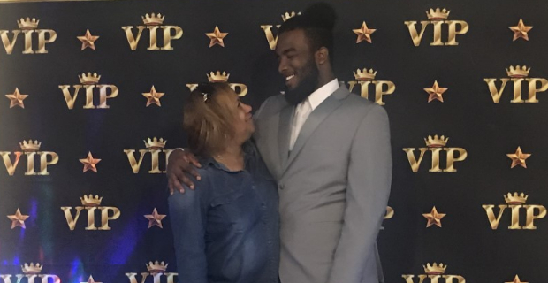 Student and mom at the prom