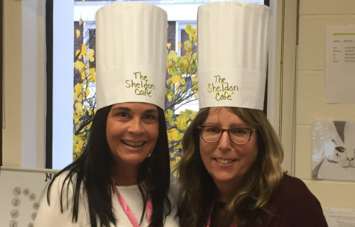 Staff wearing Chef Hats