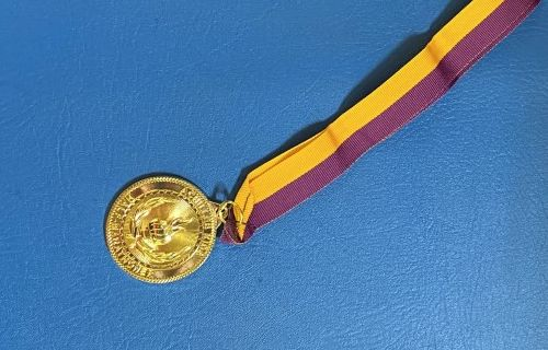 The medal.