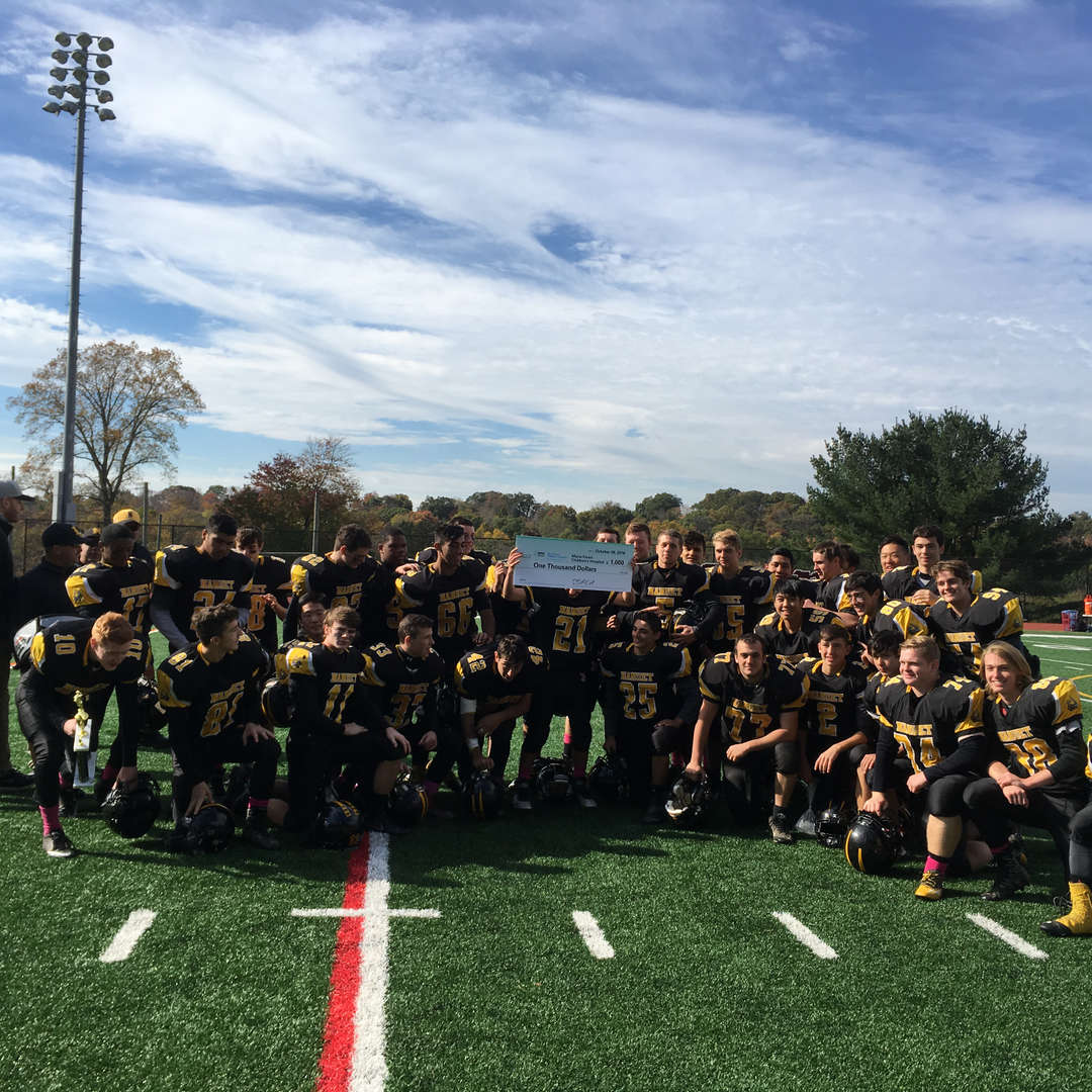 Nanuet football players  raised $1,000.00 dollars this fall for the Maria Fareri Children's Hospital Foundation.