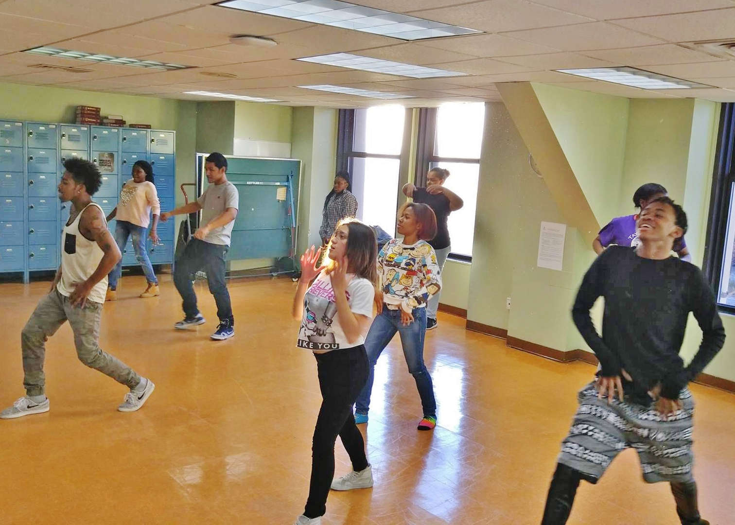 Students learn hot new dance routines every Friday at 3:30 p.m. from professional dancers with Aubrey Lynch Extra Essential Arts.