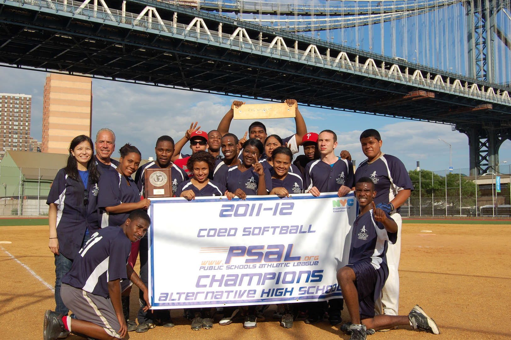 2011-2012 PSAL Coed Softball Champions  (1st undefeated season)